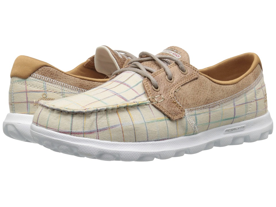 SKECHERS Performance - On The Go - Unwind (Natural) Womens Walking Shoes