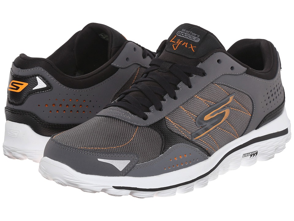 SKECHERS Performance Go Walk 2 Lynx Ballistic (Charcoal/Orange) Men