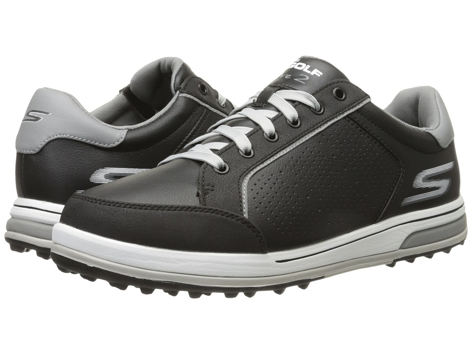 SKECHERS Performance Go Drive 2 Black/White Mens Shoes