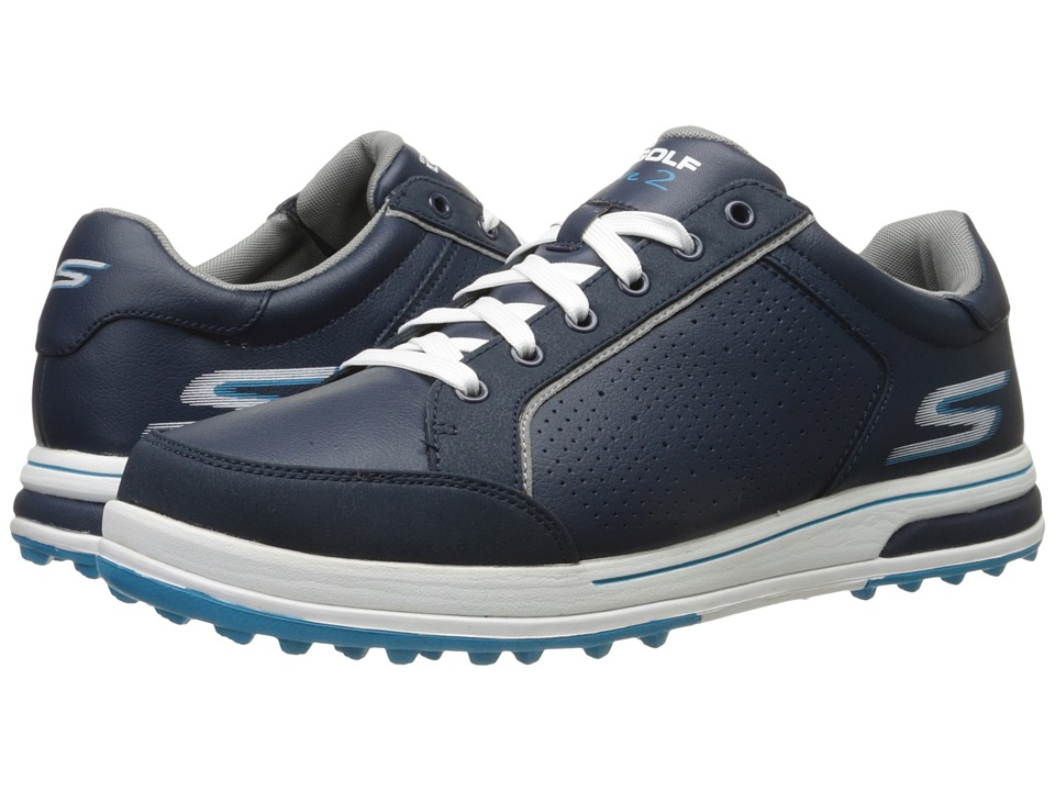 SKECHERS Performance Go Drive 2 Navy/White Mens Shoes
