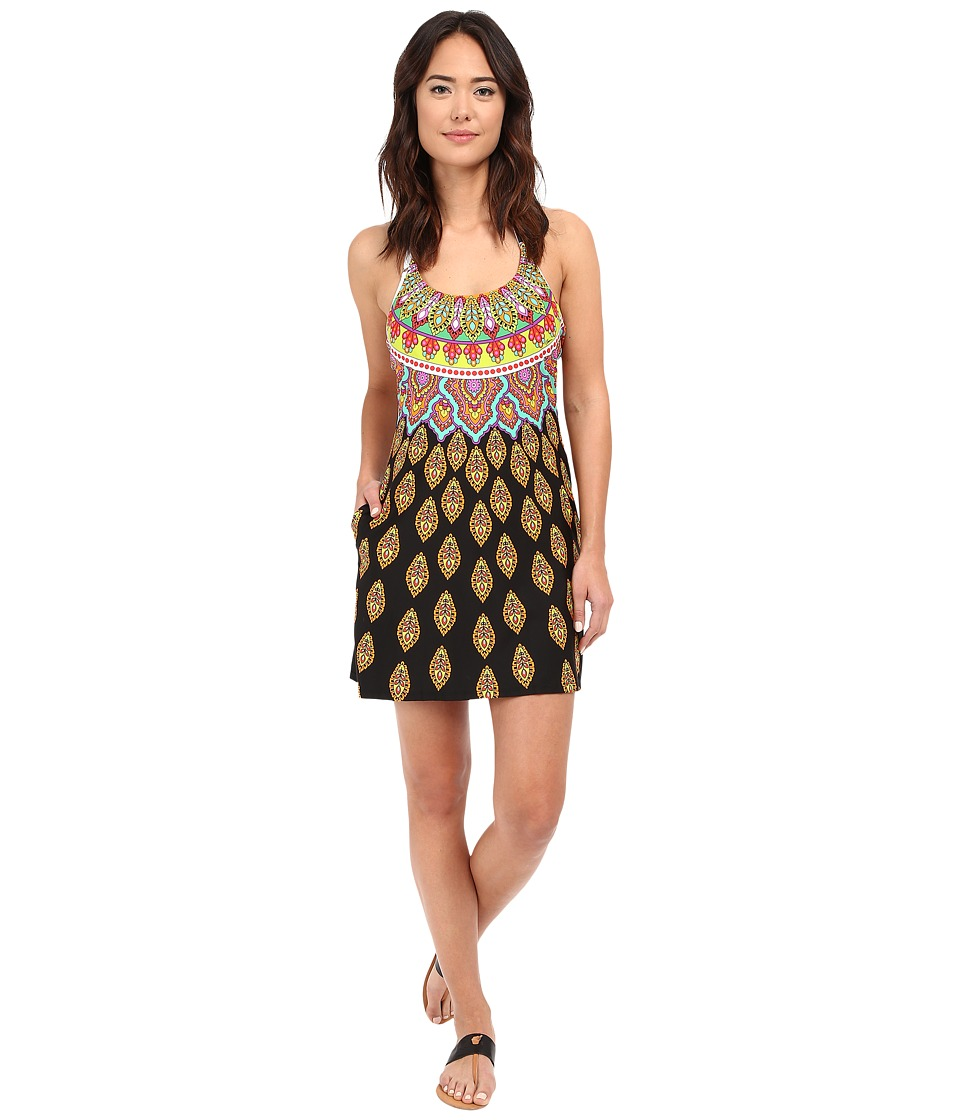 Trina Turk Moroccan Medallion Short Dress Cover Up Multi Womens Swimwear