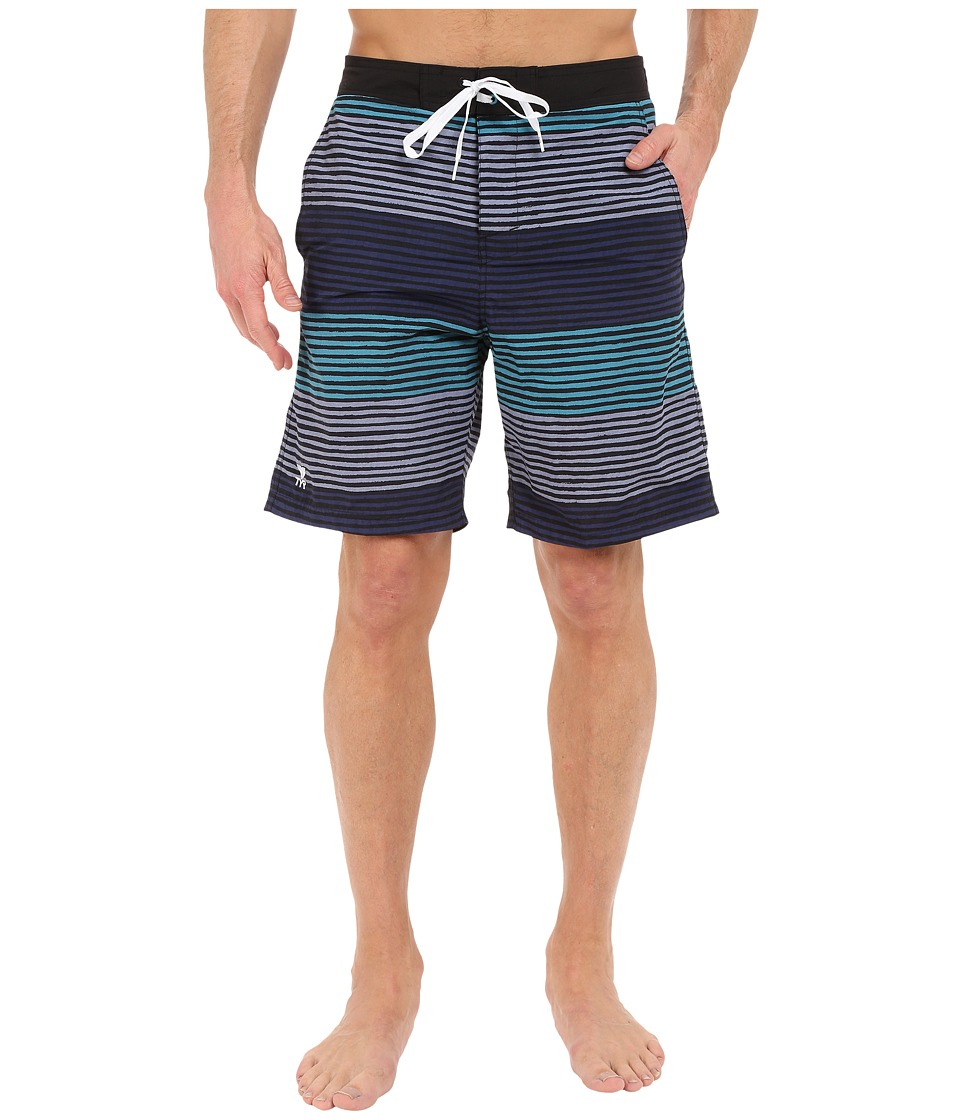 TYR Apollo Jetty Stripe Apollo Swim Shorts Green/Grey/Navy Mens Swimwear