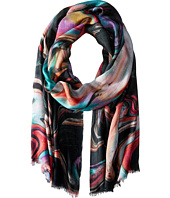 Bindya - Stole Ink Print Cashmere/Silk Wrap