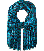 Bindya - Geo Chevron Cashmere/Silk Wrap