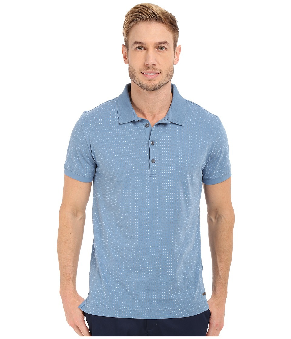 BOSS Orange Peerson Polo 10188431 01 Light Pastel Blue Mens Short Sleeve Knit