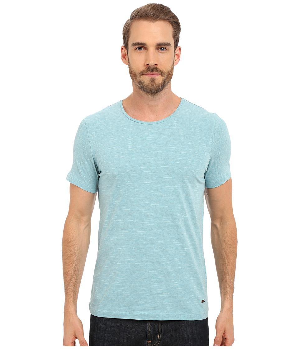 BOSS Orange Typicco T Shirt 10188804 01 Turquoise Aqua Mens Short Sleeve Pullover