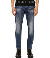 Philipp Plein - Amnesia Super Straight Cut Denim in Amnesia Blue