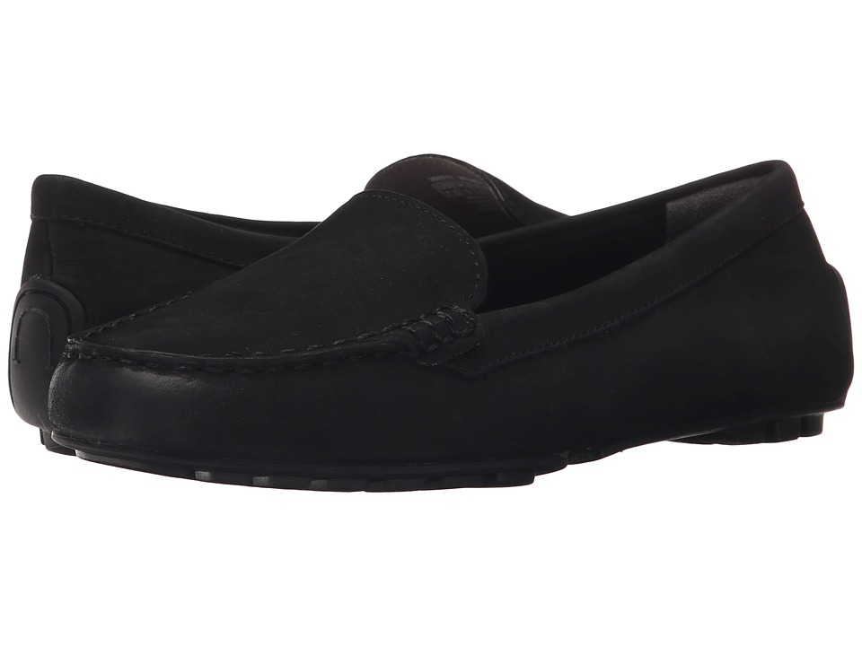 Rockport Cambridge Boulevard Moccasin Black Nubuck Wash Womens Moccasin Shoes