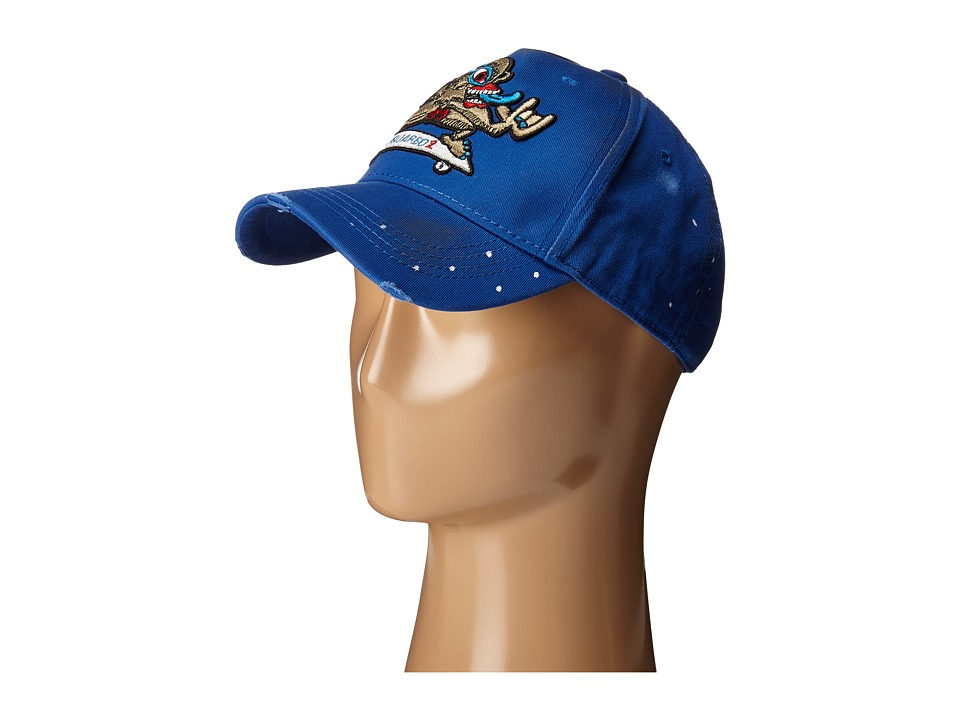 DSQUARED2 Abstract Skater Graphic Cap Blue Caps