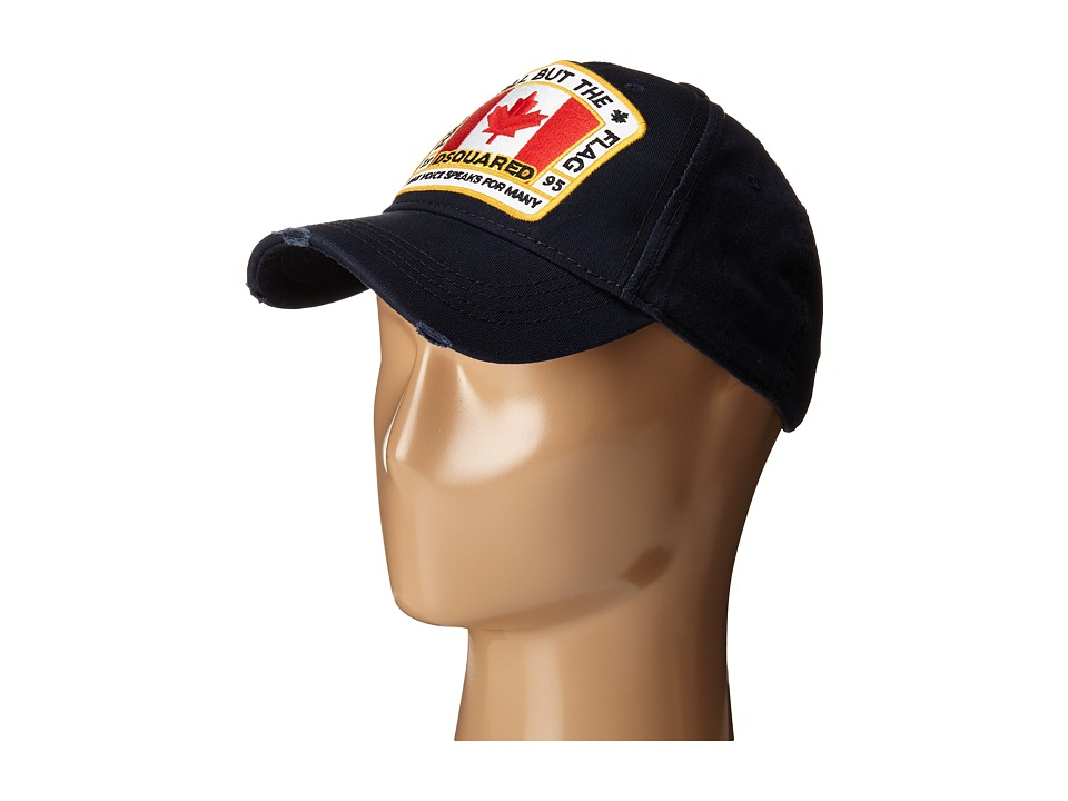 DSQUARED2 All But the Flag Cap Navy Caps