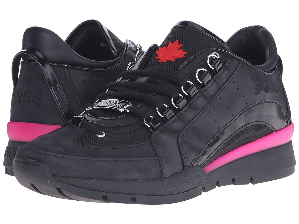 DSQUARED2 551 Tech Sneaker Black/Fuxia Mens Shoes