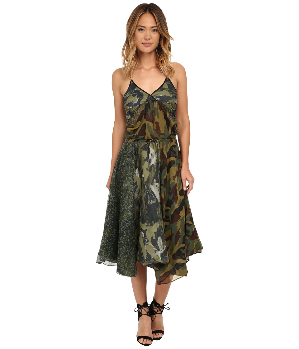 Diesel D Flour Dress Olive/Green Womens Dress