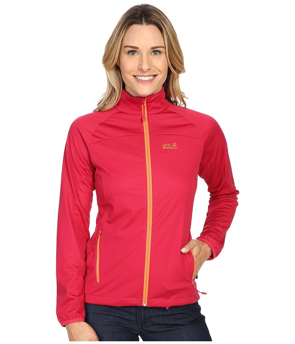 Jack Wolfskin Crosswind Jacket Azalea Red Womens Coat