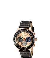 Ted Baker - Dress Sport Collection Custom Chronograph Date Leather Strap Watch