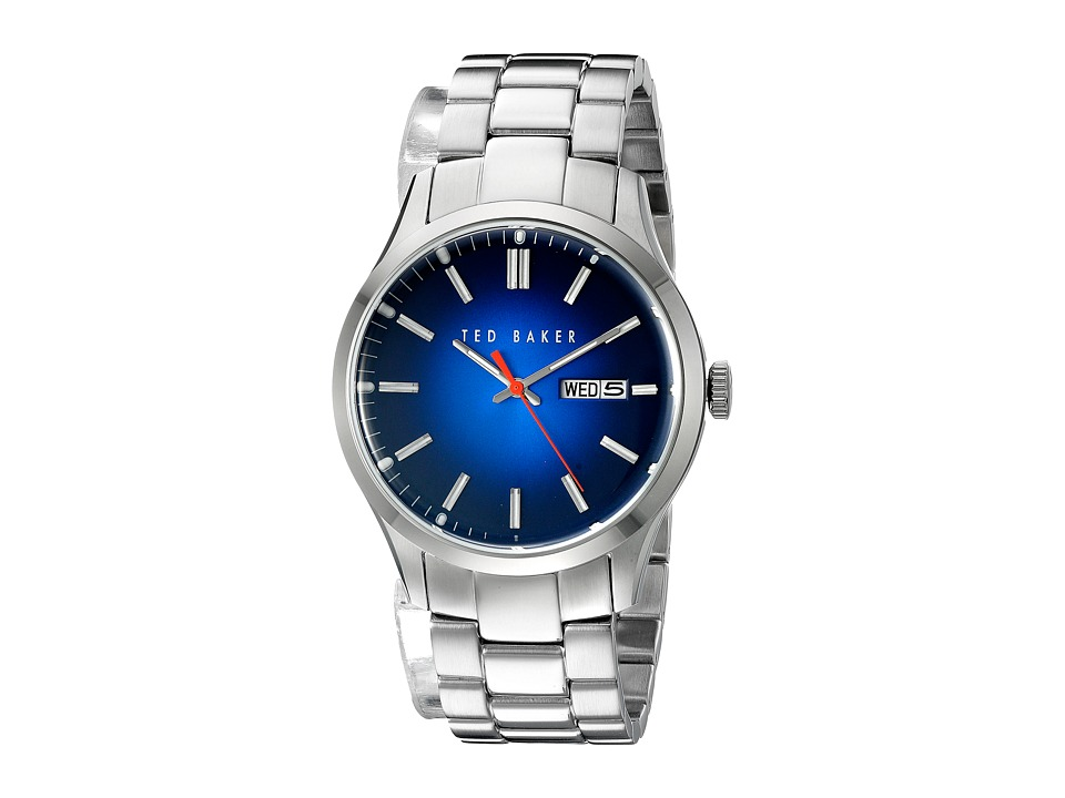 Ted Baker Dress Sport Collection Custom Link Bracelet Day/Date Watch Blue Watches