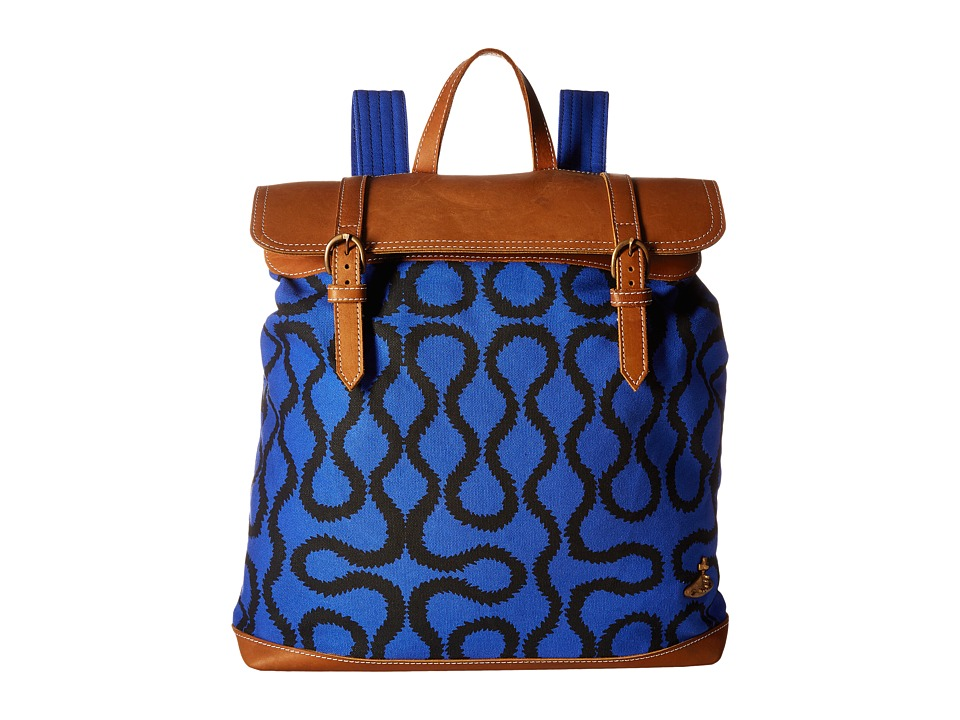 Vivienne Westwood Africa Squiggle Backpack Blue Squiggle Backpack Bags