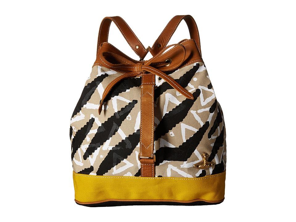 Vivienne Westwood Africa Tiger Triangle Runner Duffel Bag Grey/Black Duffel Bags