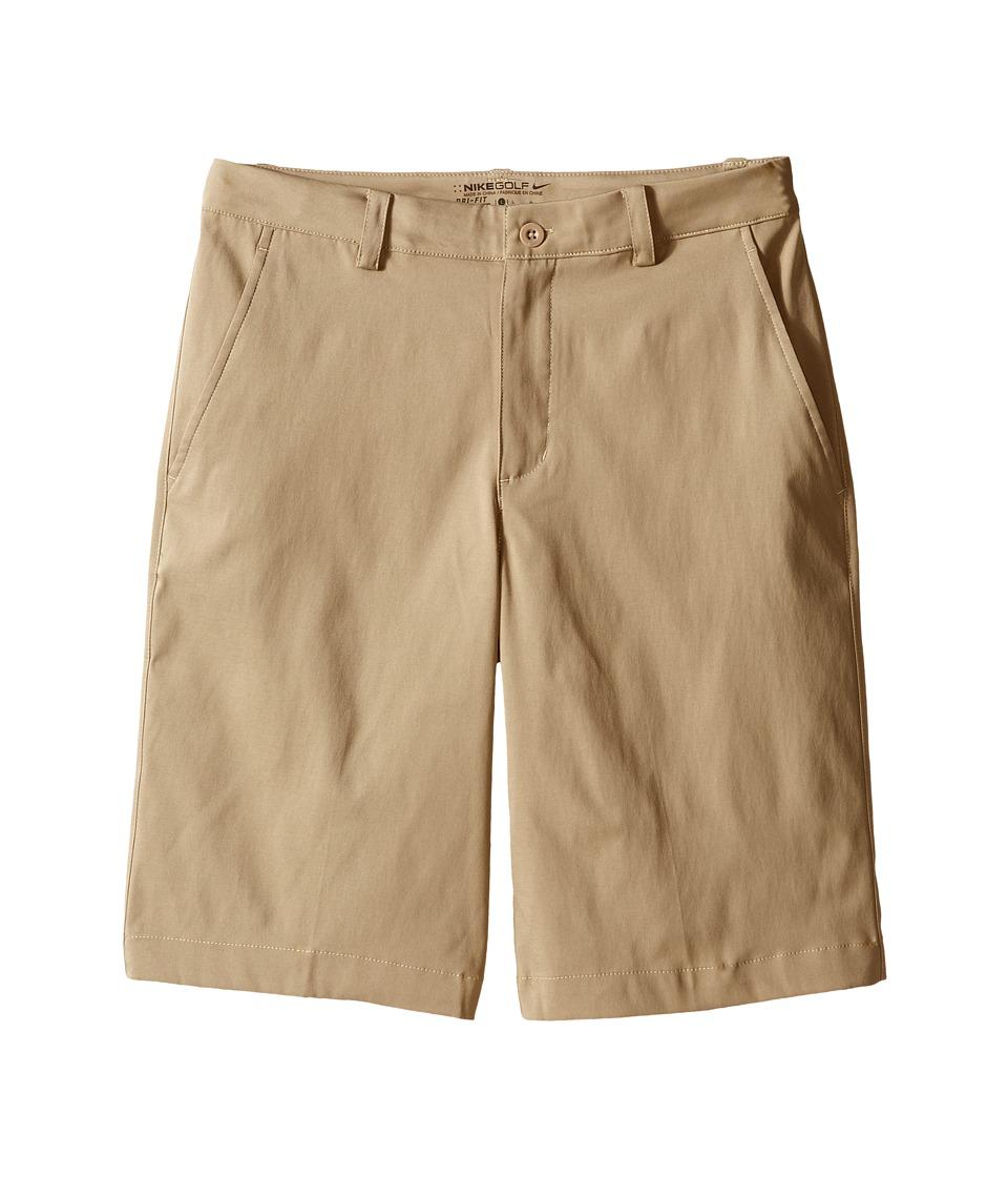 Nike Kids Flat Front Shorts Little Kids/Big Kids Khaki/Khaki Boys Shorts
