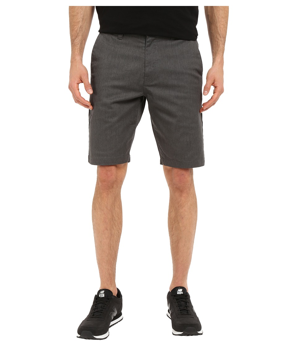 Volcom Frickin Modern Stretch Chino Shorts (Charcoal Heather) Men