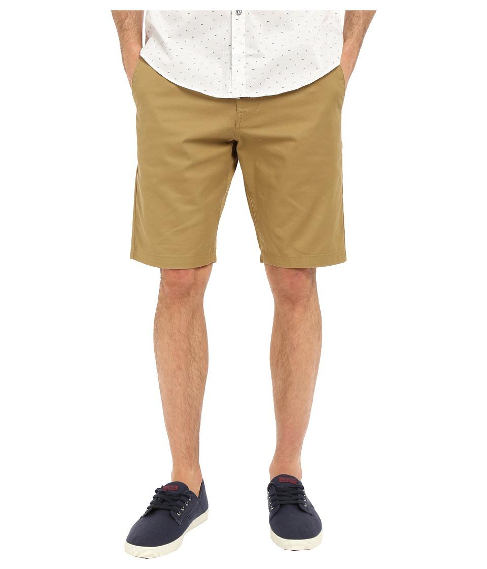 Volcom Frickin Modern Stretch Chino Shorts (Dark Khaki) Men