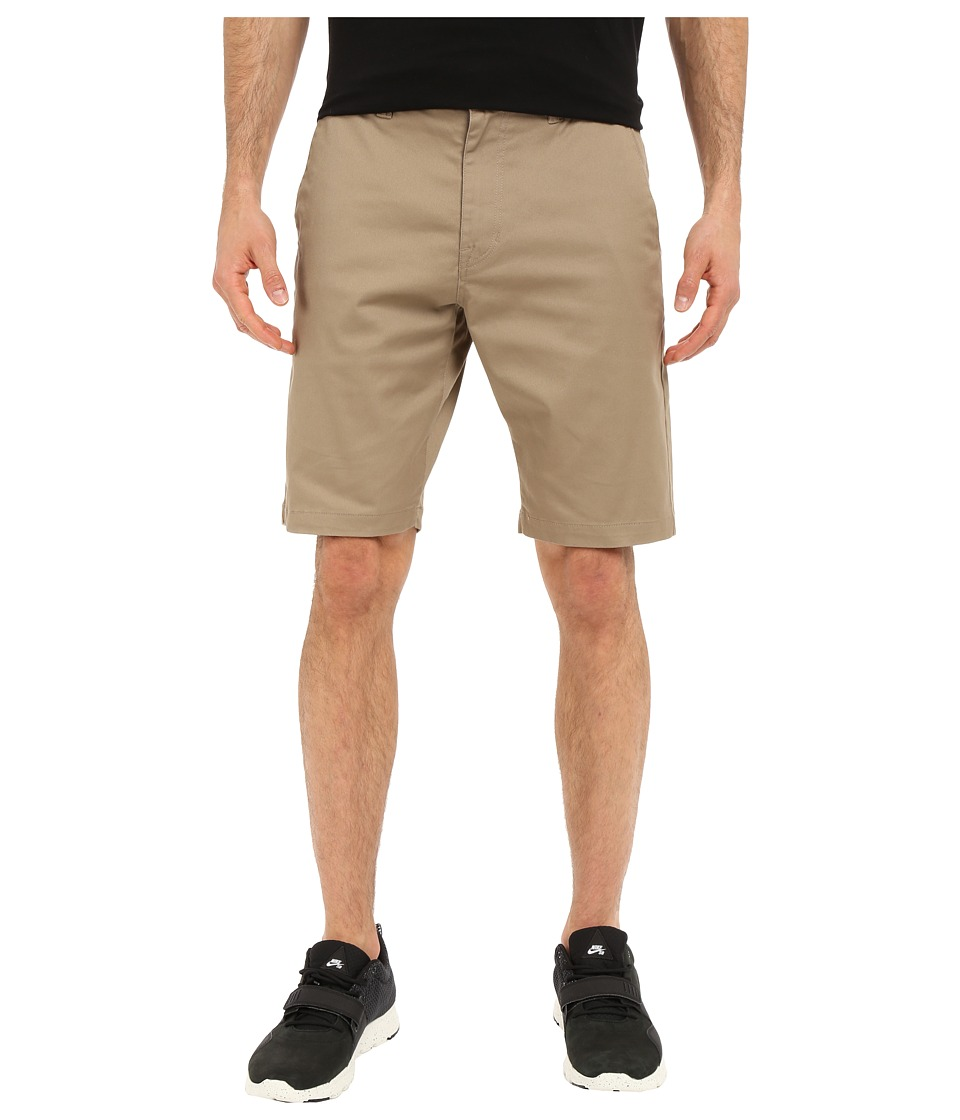 Volcom Frickin Modern Stretch Chino Shorts (Khaki) Men
