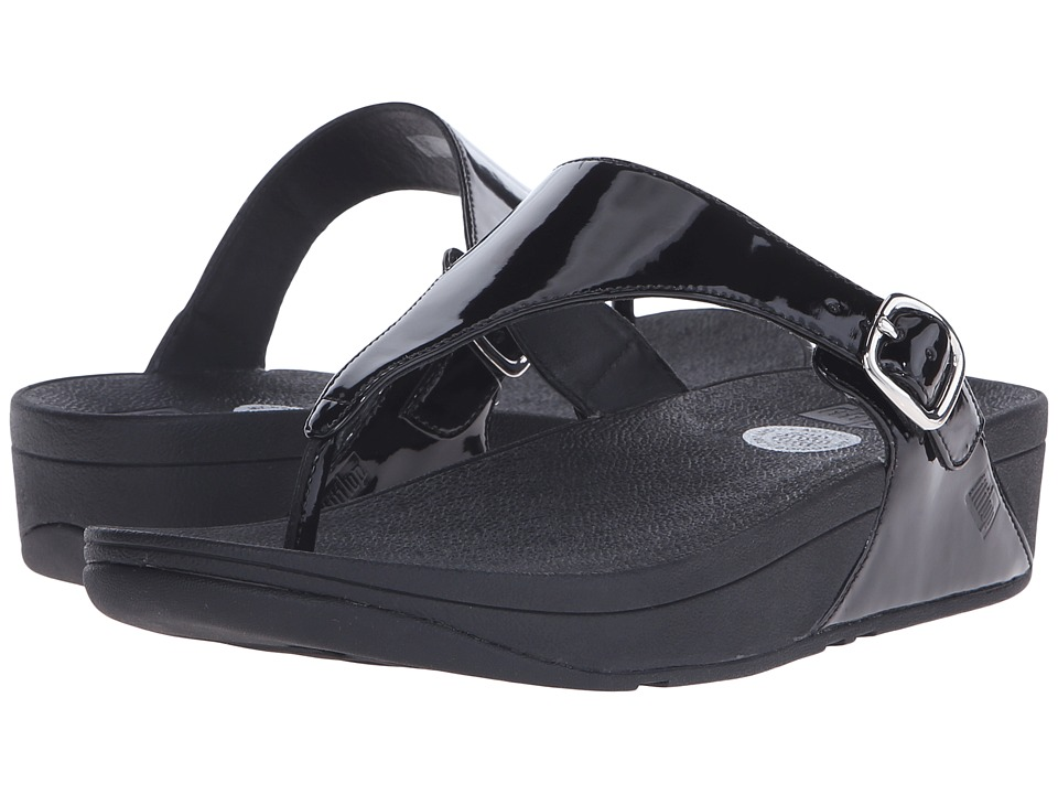 FitFlop The Skinny Patent (All Black) Women