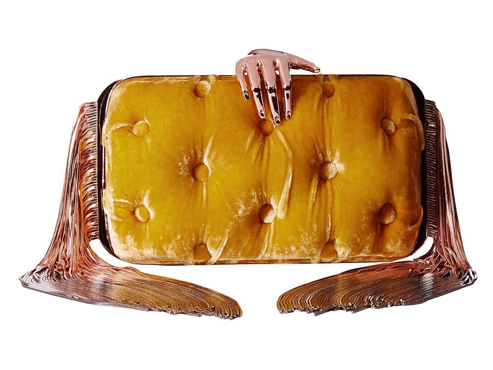 Benedetta Bruzziches Carmen Hand Fringed Yellow Handbags