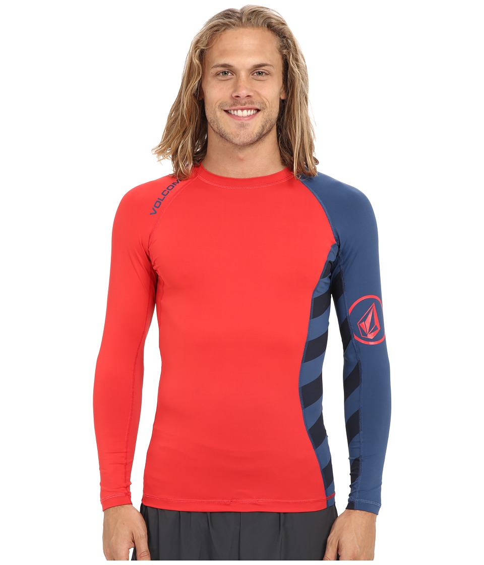 Volcom Change Up Long Sleeve Rashguard Navy Paint Mens Swimwear