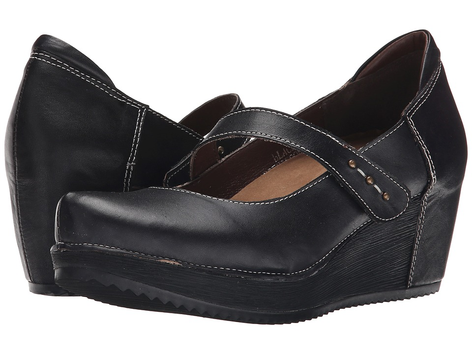 Spring Step Brentwood Black Womens Shoes