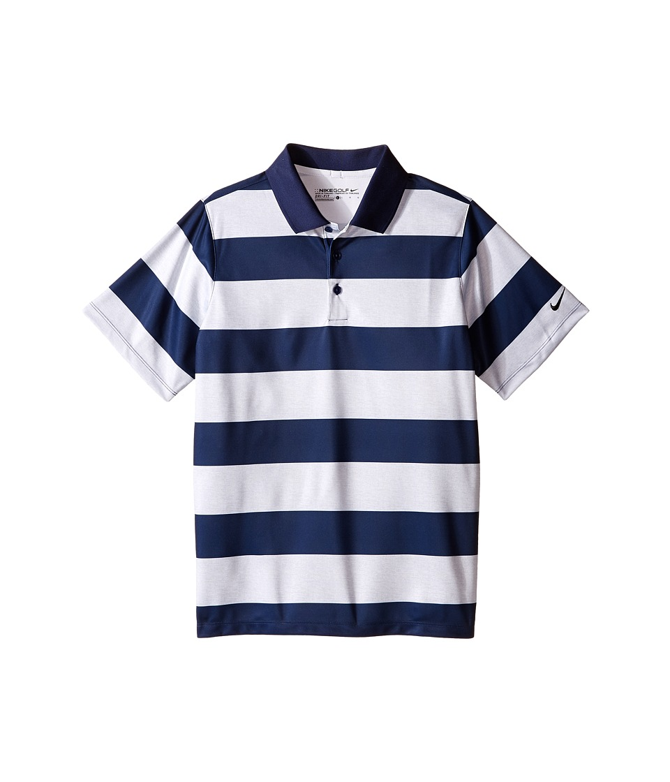 Nike Kids Bold Stripe Polo Little Kids/Big Kids Midnight Navy/Midnight Navy/Midnight Navy Boys Short Sleeve Pullover