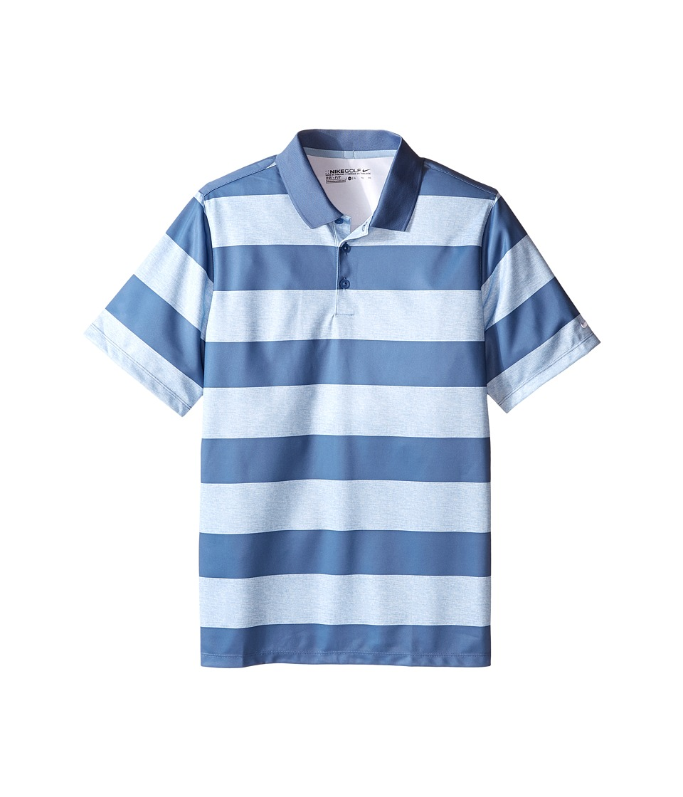 Nike Kids Bold Stripe Polo Little Kids/Big Kids Blue Grey/Ocean Fog/Ocean Fog Boys Short Sleeve Pullover