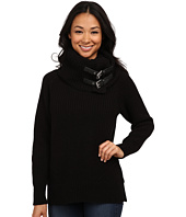 MICHAEL Michael Kors - Removeable Buckle Cowl Neck Poncho