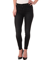 J Brand - Alana High Rise Crop in Black Elixir/Coated
