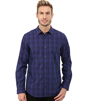 Calvin Klein - Liquid Cotton End on End Tonal Plaid Woven Shirt