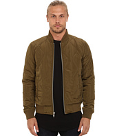Members Only - Quilted Zip Front Bomber Jacket