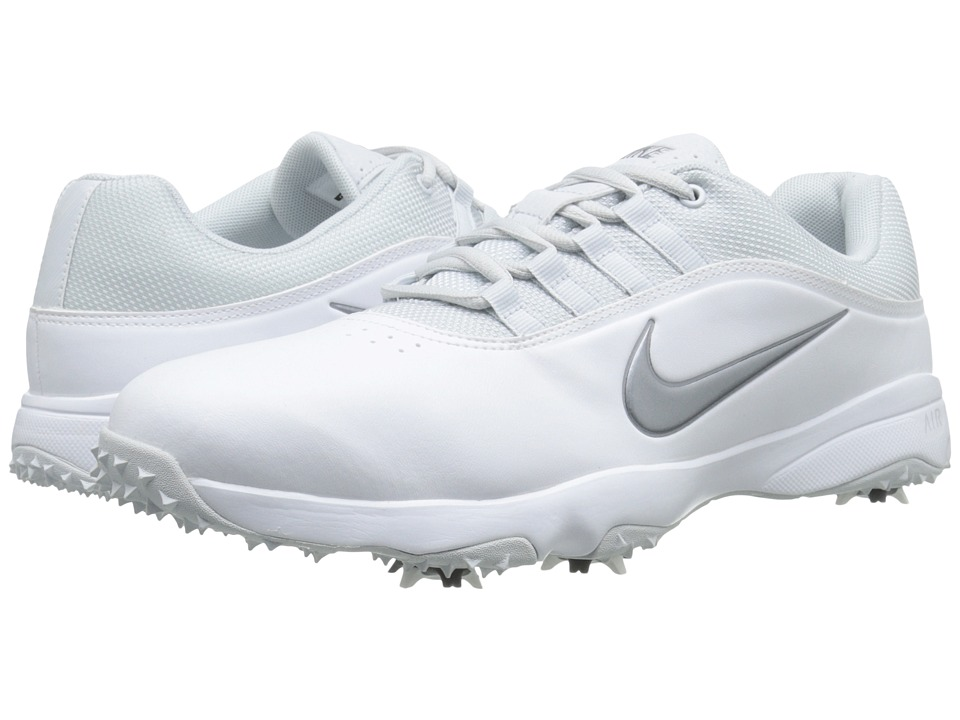 Nike Golf Air Rival 4 White/Metallic Cool Grey/Pure Platinum Mens Golf Shoes