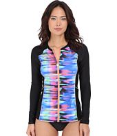 Next by Athena - Turn Up The Tempo Malibu Zip-Up Long Sleeve Surf Shirt