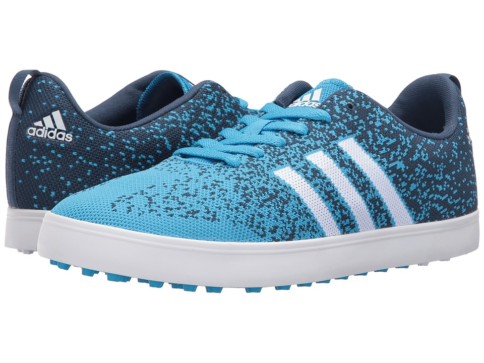 Image of adidas Golf - Adicross Primeknit (Cyan/Ftwr White/Mineral Blue) Men's Golf Shoes