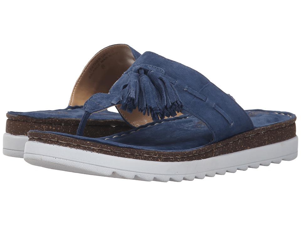 Seychelles Ahead Denim Suede Womens Sandals