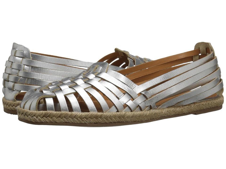 Seychelles - Nifty Silver Leather Womens Flat Shoes $90.00 AT vintagedancer.com
