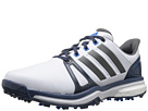 adidas Golf Adipower Boost 2 (Ftwr White/Mineral Blue/Shock Blue)