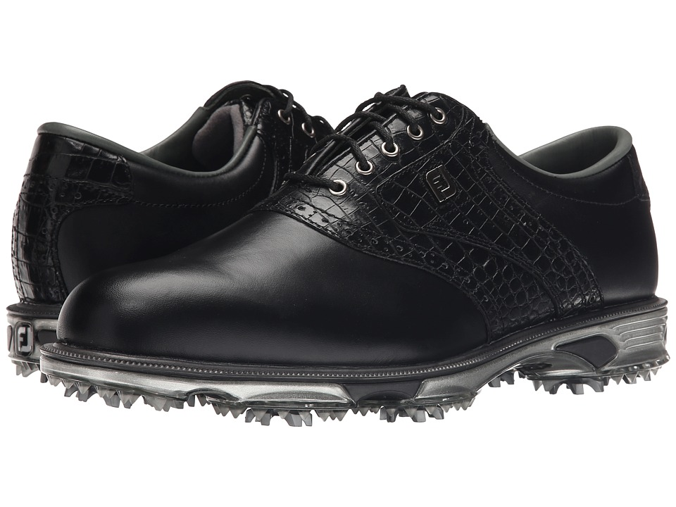 FootJoy DryJoys Tour (Black/Black Croc) Men's Golf Shoes
