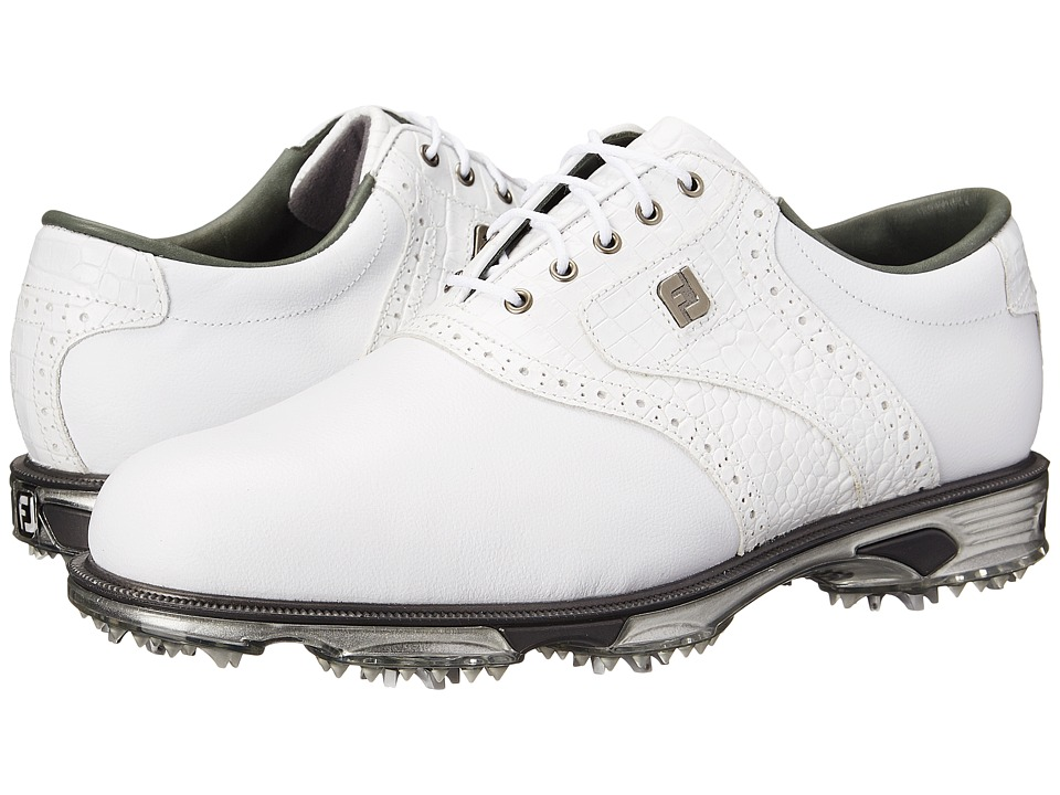 FootJoy DryJoys Tour (White/White Croc) Men's Golf Shoes