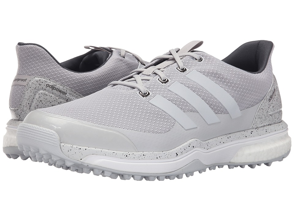 adidas Golf Adipower S Boost 2 Light Solid Grey/Light Solid Grey/Ftwr White Mens Golf Shoes