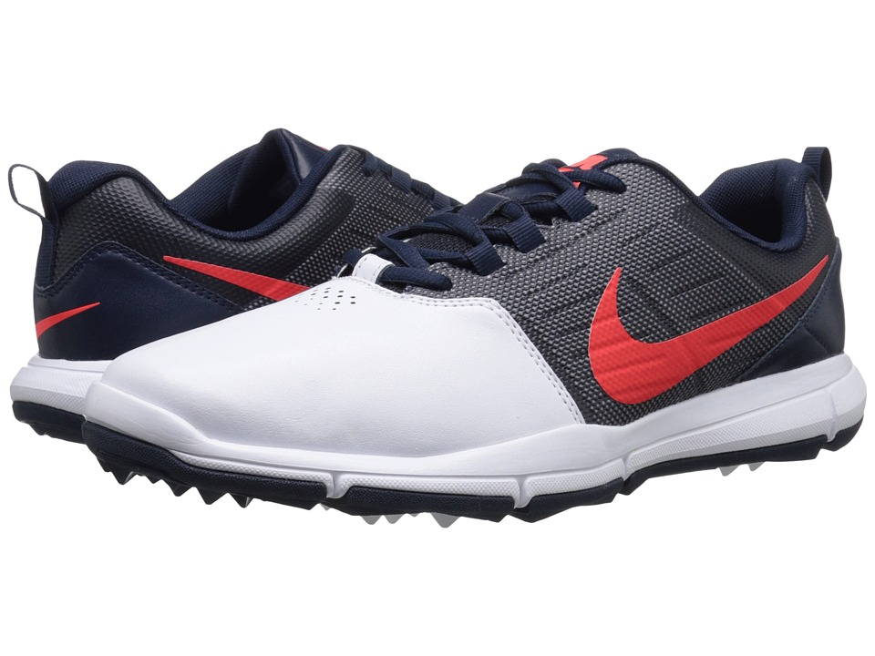 Nike Golf - Explorer SL (White/Bright Crimson/Obsidian) Mens Golf Shoes