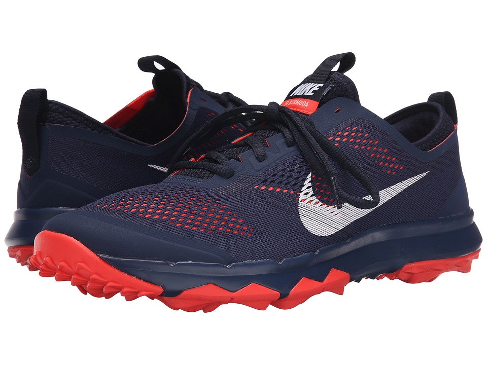 Nike Golf - FI Bermuda (Midnight Navy/White/Bright Crimson) Men