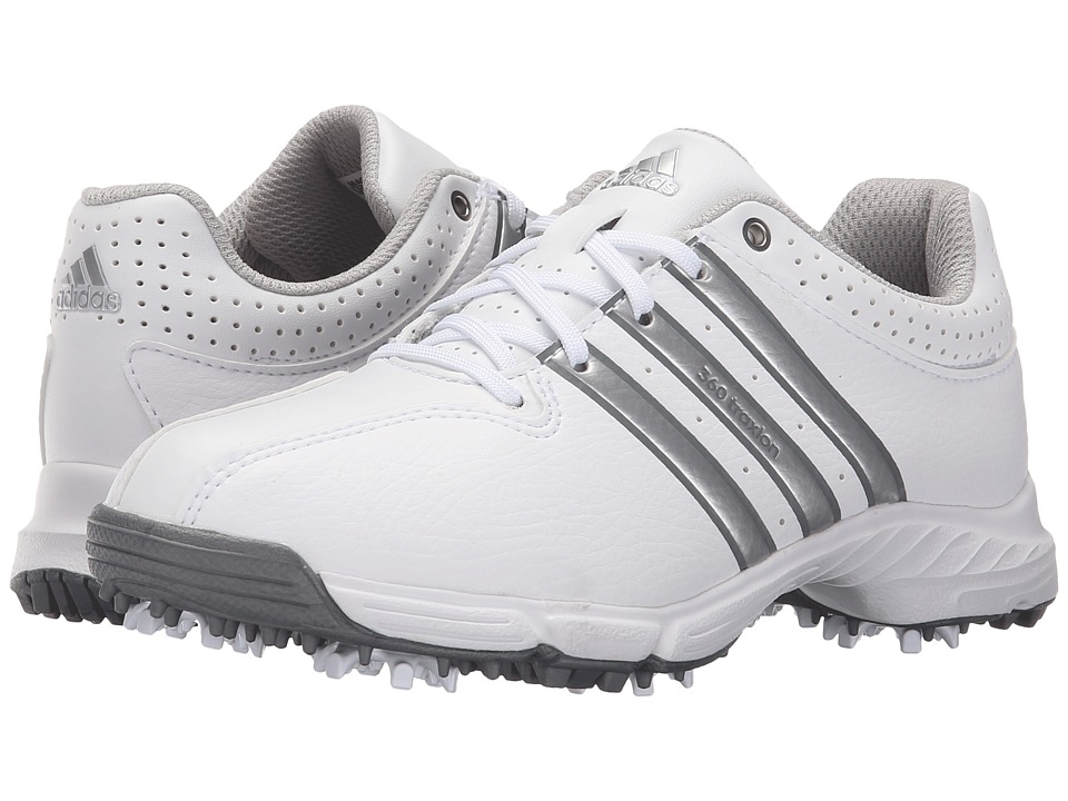 adidas Golf Jr 360 Traxion (Little Kid/Big Kid) (Ftwr White/Silver Metallic/Iron Metallic) Men