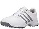 adidas Golf Jr 360 Traxion (Little Kid/Big Kid) (Ftwr White/Silver Metallic/Iron Metallic)