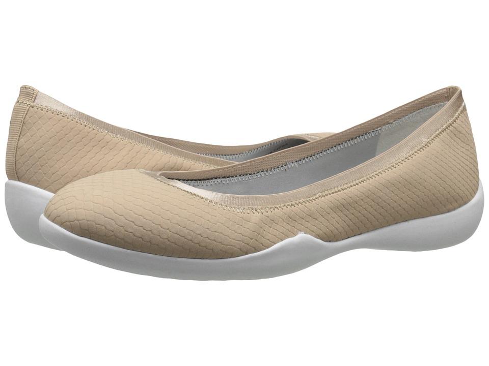 Tahari Nina Nude Matte Snake Print Womens Flat Shoes