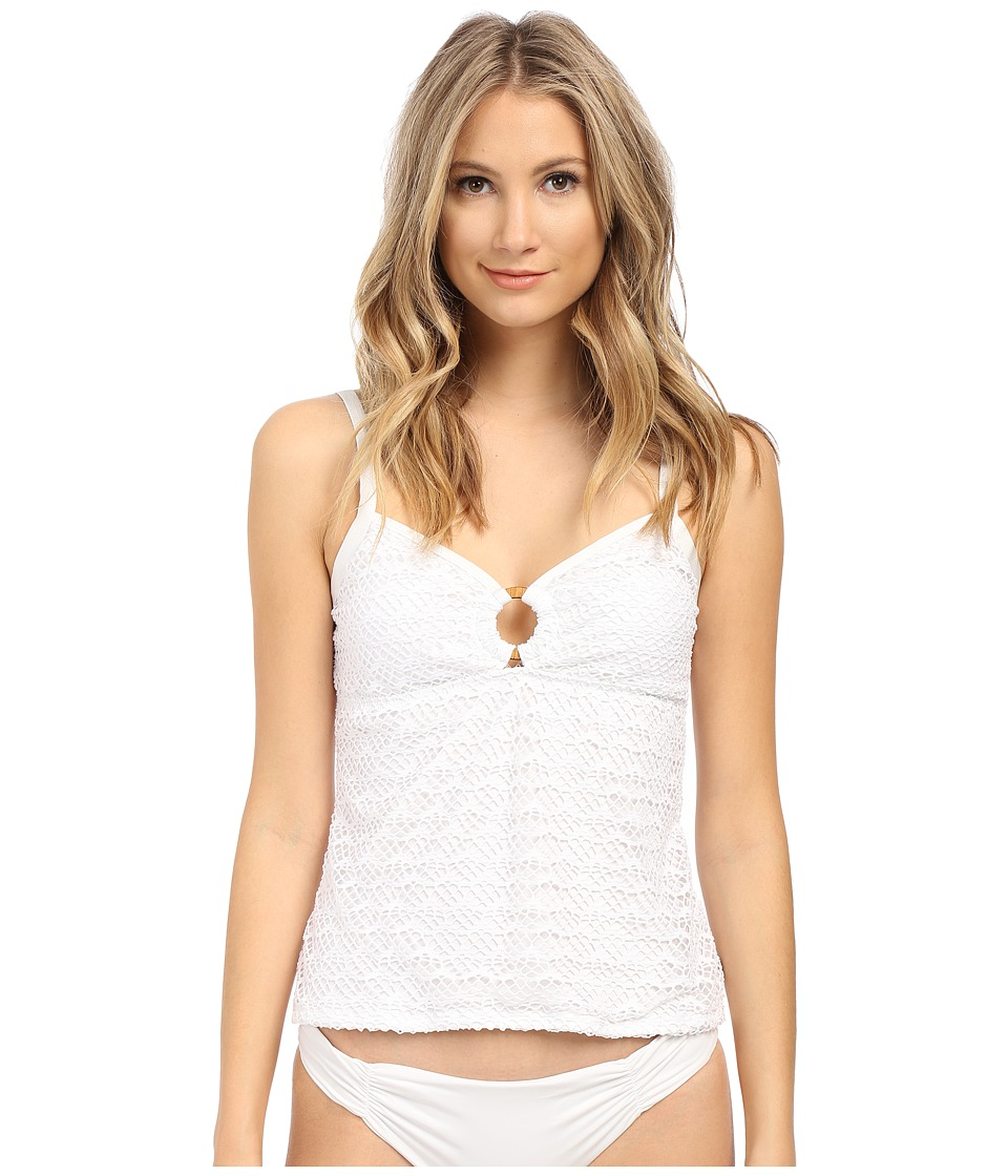 Nautica Absolutely Shore Rem Soft Cup Ring Tankini NA24146 White Womens Swimwear